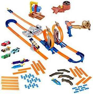 Juguete Hot Wheels Track System Builder Mega Set