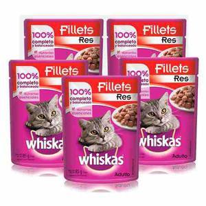 Kit Alimento Para Gato Croqueta Carne Res 1.5 Kg Whiskas