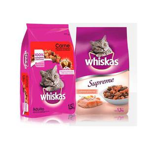 Kit Alimento Seco Para Gato Res/salmon Whiskas