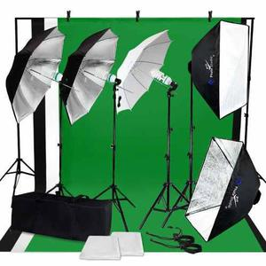 Kit Estudio Fotografico Softbox Luz Continua Fotografia 12 M