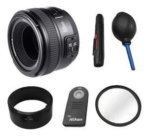Kit Lente Yongnuo 50mm F/1.8 Para Nikon Y Accesorios Nuevo
