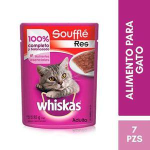 Kit Whiskas Alimento Gato Adulto Sabor Res En Trozos 85g