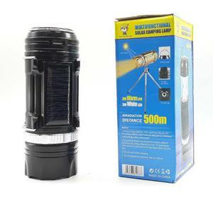 Lampara Campamento Solar Linterna Usb Recargable Gsh-9688