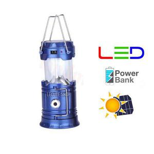 Lampara Camping Led Solar Usb Recargable Powerbank Linterna