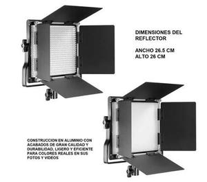 Lampara Reflector Luz Led 660 Kit Relleno Video Fotografia