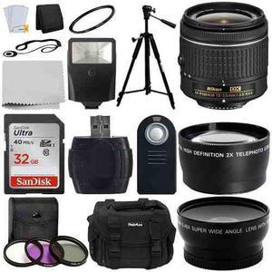 Lente Nikon 18-55mm Nikkor + Memoria + Tripie + Estuche Etc