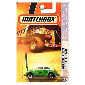 Matchbox Volkswagen Vw Escarabajo Taxi Verde Y Blanco 2008