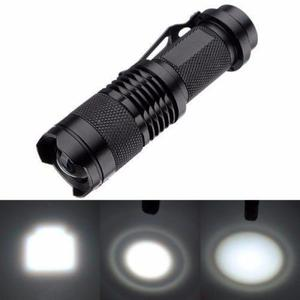 Mini Lampara Tactica Led T6 1200 Zoom Recargable