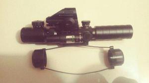 Mira Holografica Y Telescopica Con Laser Verde