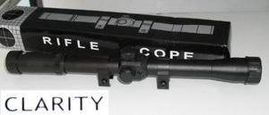 Mira Telescopìca 4 X 20 Clarity Con Monturas Para Riel Op4