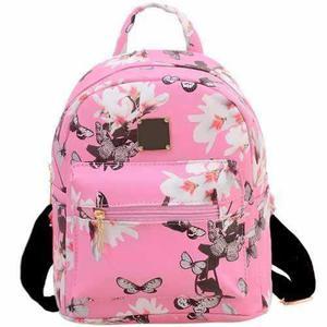 Mochila Bacpack Floral Color Rosa H6025