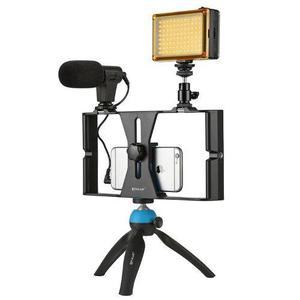 Montaje Tripie Microfono Luz Led P/smartphone Envío Gratis