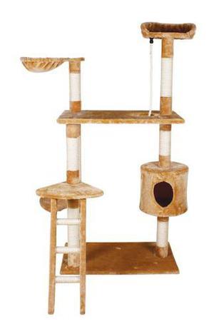 Mueble Rascador Gato Con Casa Hamaca Escalera 158 Cms Gatos