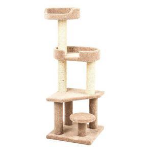 Mueble Torre Rascador Para Gatos 1.37 X 50 Cm Envío Gratis