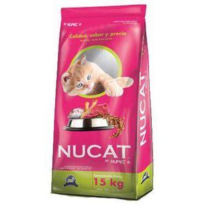 Nucat Alimento Para Gato 15 Kg Petguru