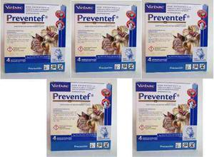 Pack De 5 Collares Antipulgas Preventef Virbac Gato