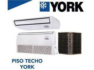 Piso Techo York 3 Ton 36000 Btu Solo Frio 220v 410a '18