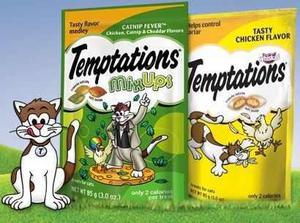 Premios Para Gatos Temptations De Whiskas Con Catnip 180 Grs