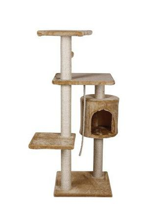 Rascador Con Casa Para Gato 112cm