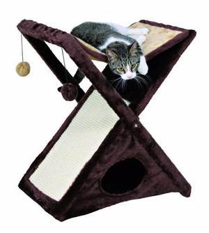 Rascador Para Gato Casa Mascota Trixie Cama Plegable