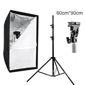 Softbox Caja De Luz 60x90cm + Tripie Linco + Bracket P/flash