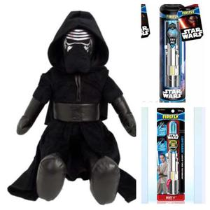 Star Wars Kylo Ren Peluche Grande Y Cepillo Dental Luz Azul