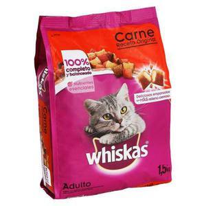 Whiskas Receta Original Carne De Res 1.5 Kg Alimento Gato