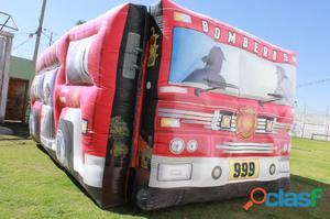 renta de brincolin camión de bomberos en el muey