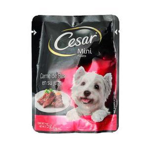 Alimento Para Perro Cesar Carne De Res Adulto 75 Gr