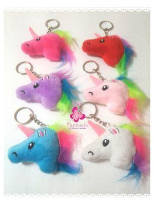 12 Llaveros De Unicornio Colores Surtidos