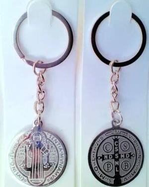 12 Llaveros Llavero Medalla De San Benito Acero Inox