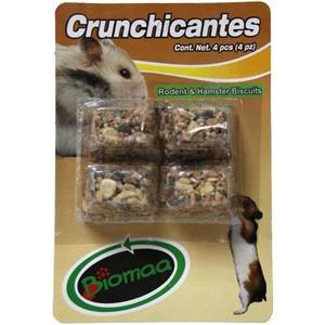 Alimento Para Hamster O Jerbo Crunchicantes 4 Pzas Biomaa