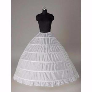 Crinolina Blanca Vestido Novia Tipo Princesa, 6 Aros