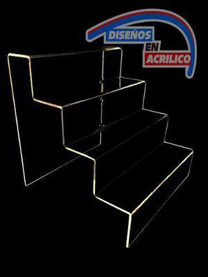 Exhibidor Escalera En Acrilico, Exhibidor De Cupcakes
