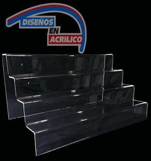 Exhibidor Escalera En Acrilico, Exhibidor De Cupcakes 40 Cms