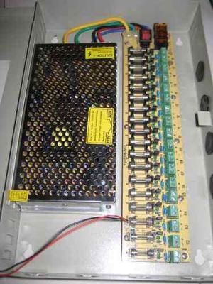 Fuente De Poder Regulada 10 Amp 14 Camaras 4 Microfono Cctv