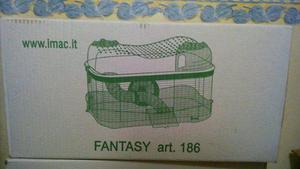Imac Jaula Fantasy 2 Pisos 58x38x61.5 Hamster Jerbo Raton