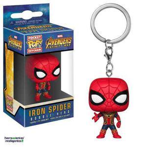 Iron Spider Llavero Funko Pop Keychain Infinity War Marvel