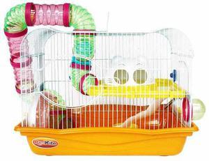 Jaula Fresno 3 Para Hamster Con Túneles, Rueda Y Plato