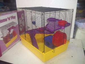 Jaula Para Hamster Equipada Seven Pet 42x30x37 12 Meses S/in