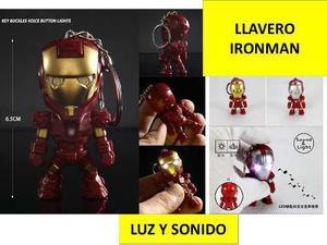 Llavero Iron Man Marvel Avengers Dhl Gratis Con Luz Y Sonido