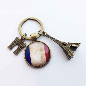 Llavero París Francia Llavero Torre Eiffel Bandera Francia