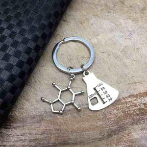 Llavero Química Molécula Matraz Llavero Laboratorio
