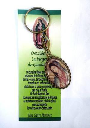 Llavero Virgen De Guadalupe Con Oración Personalizada