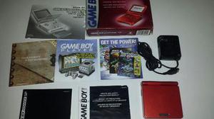 Nintendo Gameboy Advance Sp Ags-001 Rojo Con Caja Excelente.
