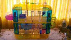 Pet-home Jaula Hamster 2 Pisos 40x26x40cm Hamster Jerbo