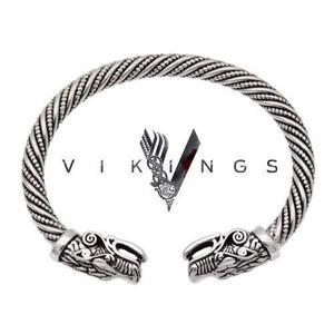 Pulsera Brazalete Serie Vikings Acero Ragnar Nordico Dragon