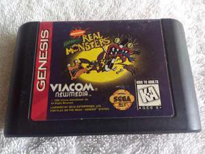 Real Monsters Sega Genesis Juego Cartucho. 32x Dreamcast