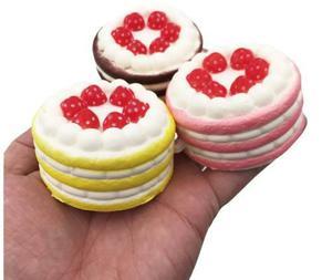 Squishy Cake Pastel Set 3 Squishys Kawaii Strap Llavero