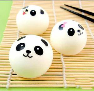 Squishy Set 3 Panda Mini Kawaii Strap Llavero Squishies